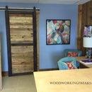 Reclaimed Pallet Wood Sliding Barn Door
