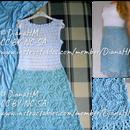 钩针编织裙子,带有一条线图案裙子