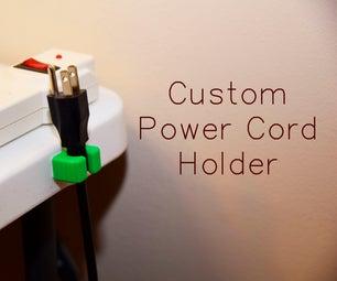 Custom Power Cord Holders
