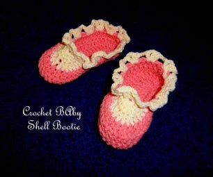 Crochet Baby Shell Lace Bootie