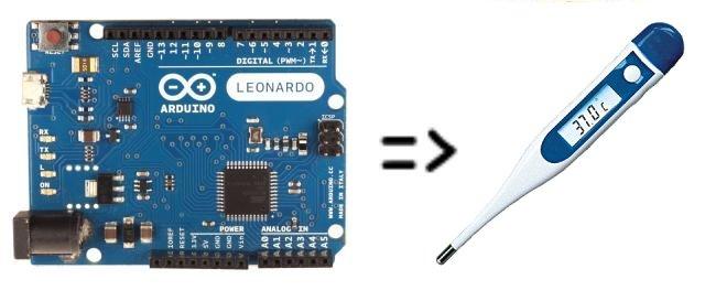 Hidden Arduino Thermometer