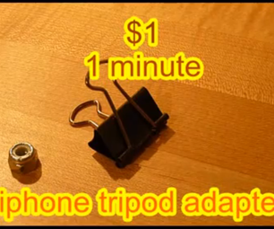 $1 1 Minute IPhone Tripod Adapter...works Great!