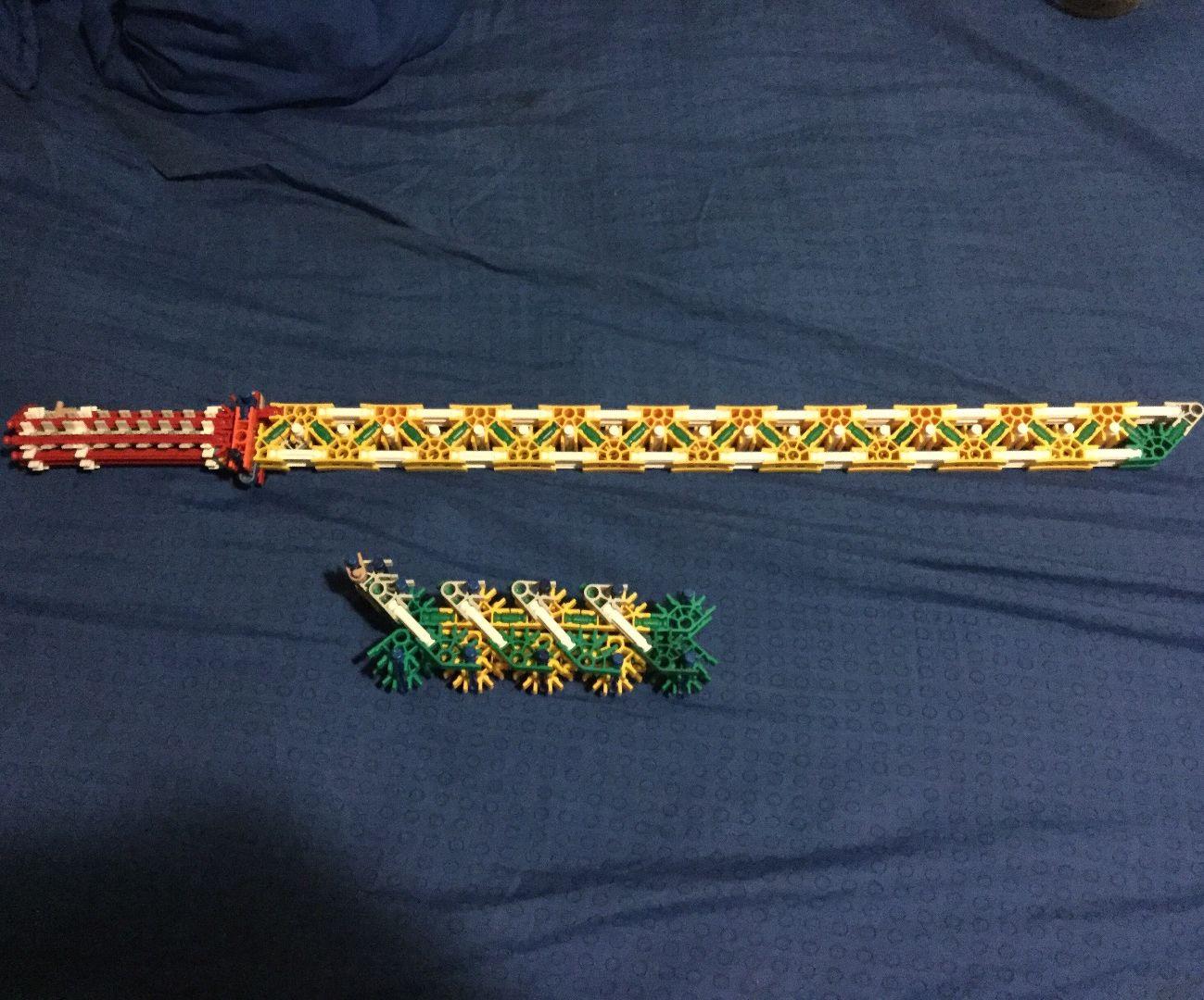 An Awsome Knex Sword, Very Sturdy and Reliable.