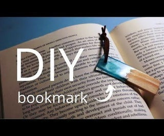 DIY Wood Resin Bookmark