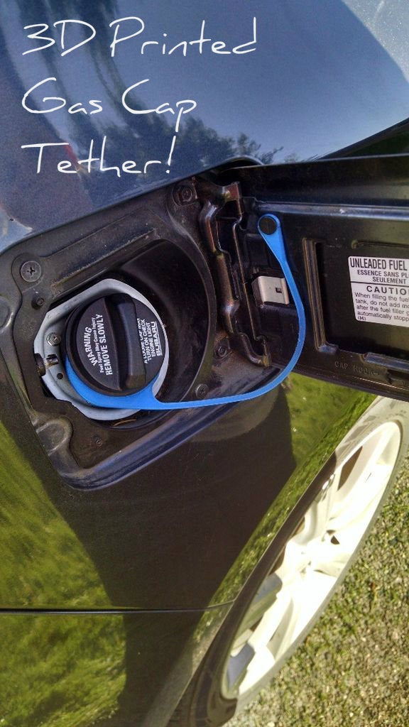Fix for Broken Gas Cap Tether / Lanyard (3D Printed)