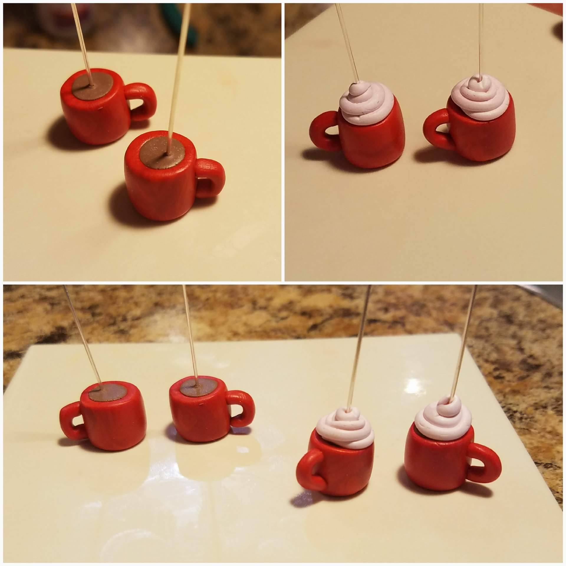 How To Polymer Clay Coffee Mug Earrings 11 Steps With Pictures Instructables