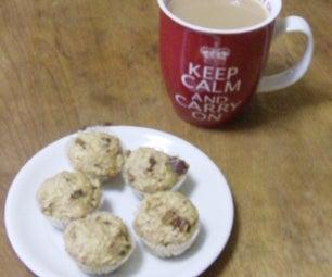 Easy Bran Muffins Made in Mini Cupcake Maker