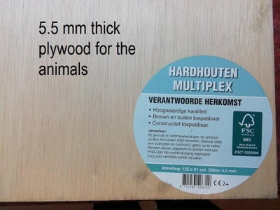 Transfer the Animals to the Plywood
