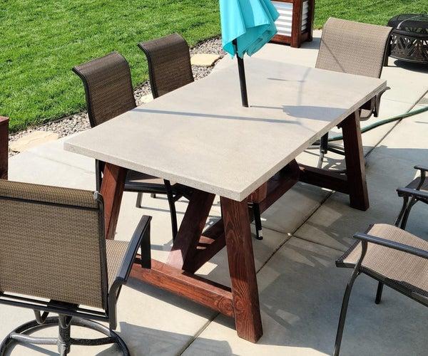 A Rustic Concrete Table