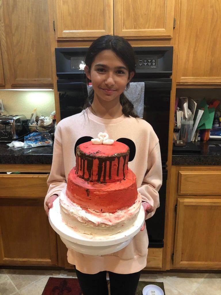 3 -Tier Valentine's Cake
