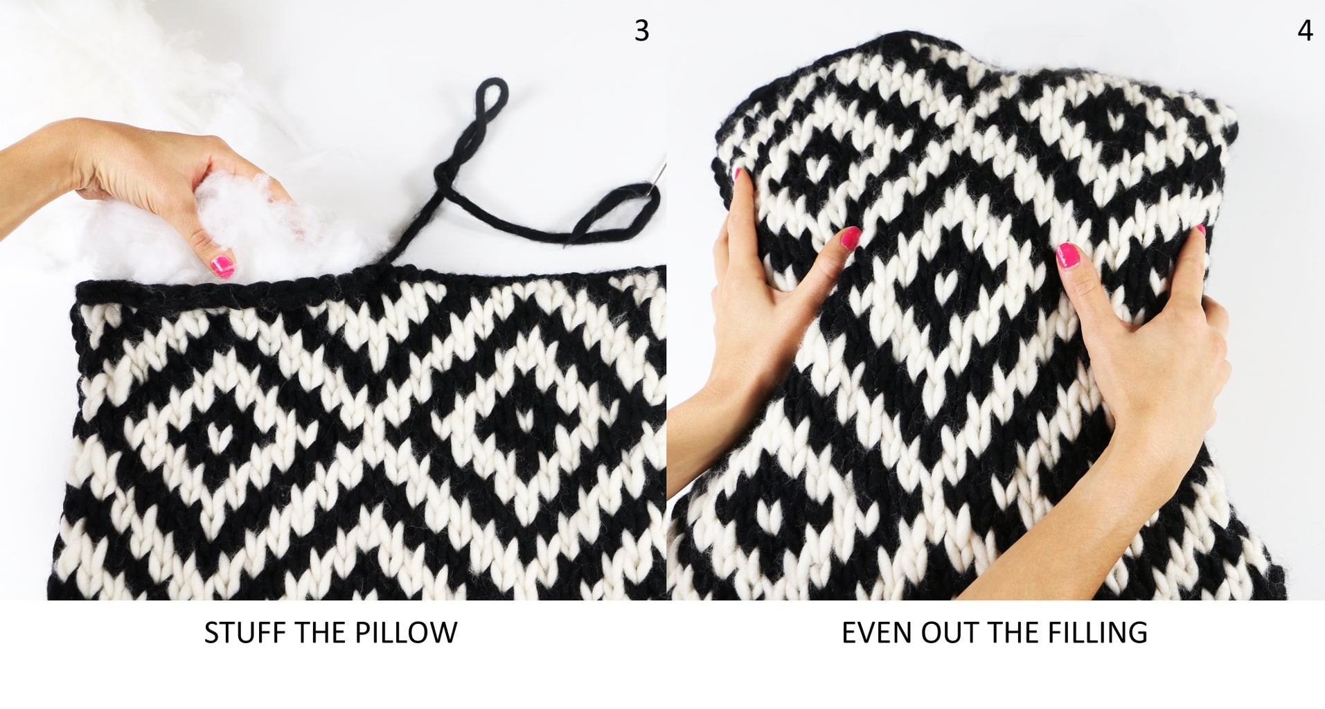Stuff the Pillow and Sew the Top