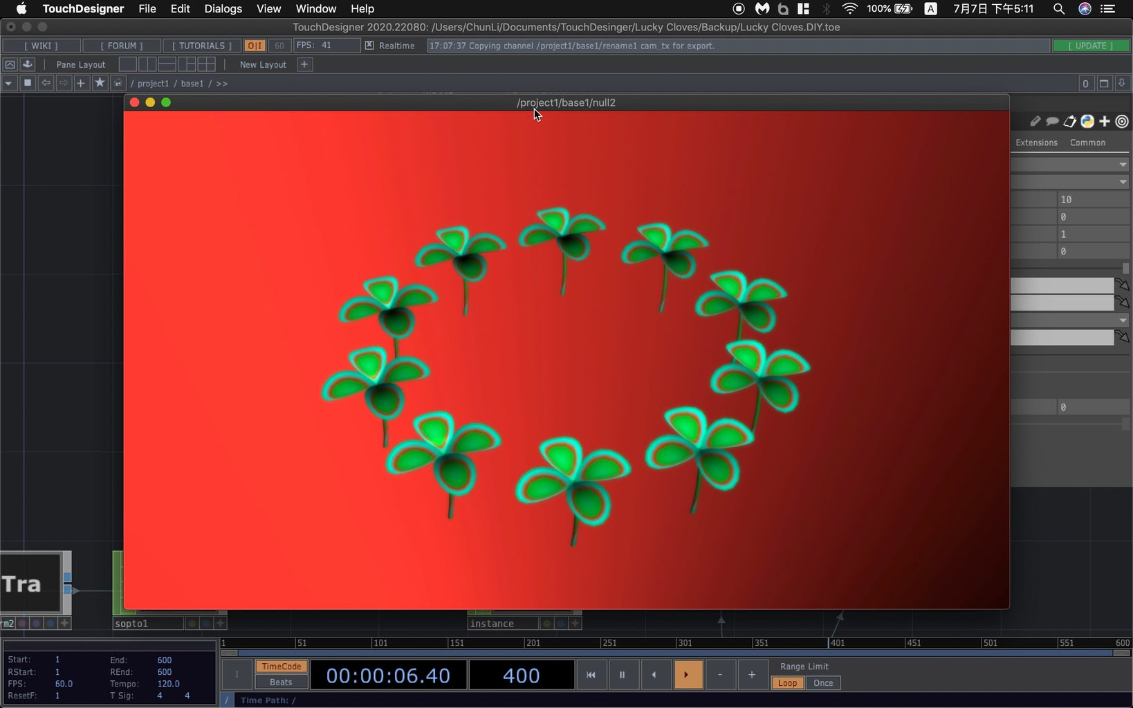 Step6: Animate the Cloves and the Camera + Glowing Effect