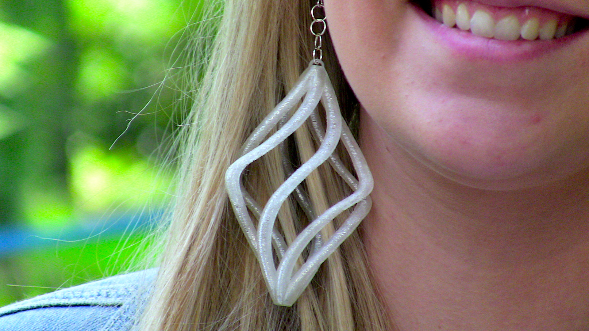 3D Printed Spiral Earrings