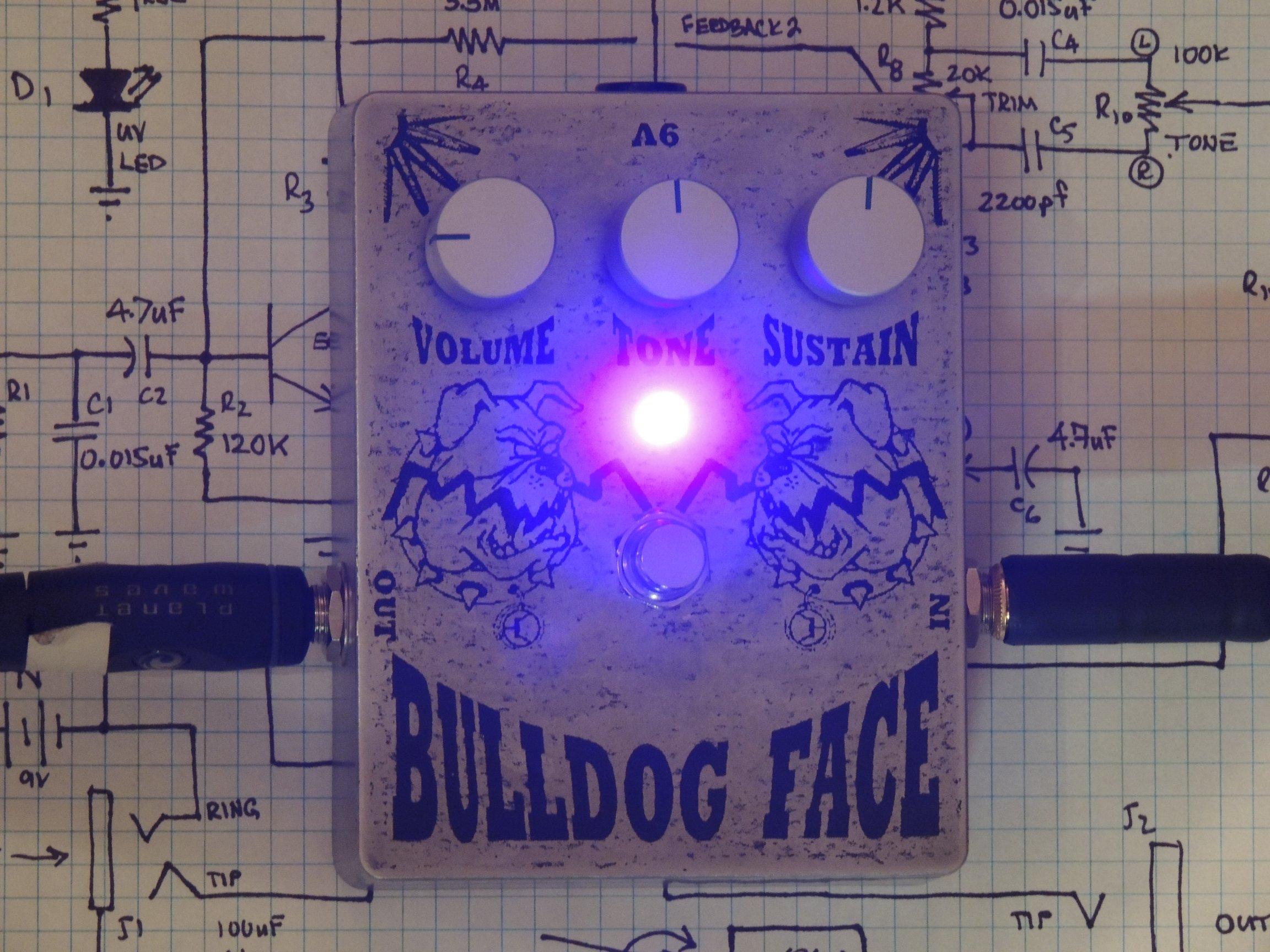 The Bulldog Face Distortion Pedal DIY