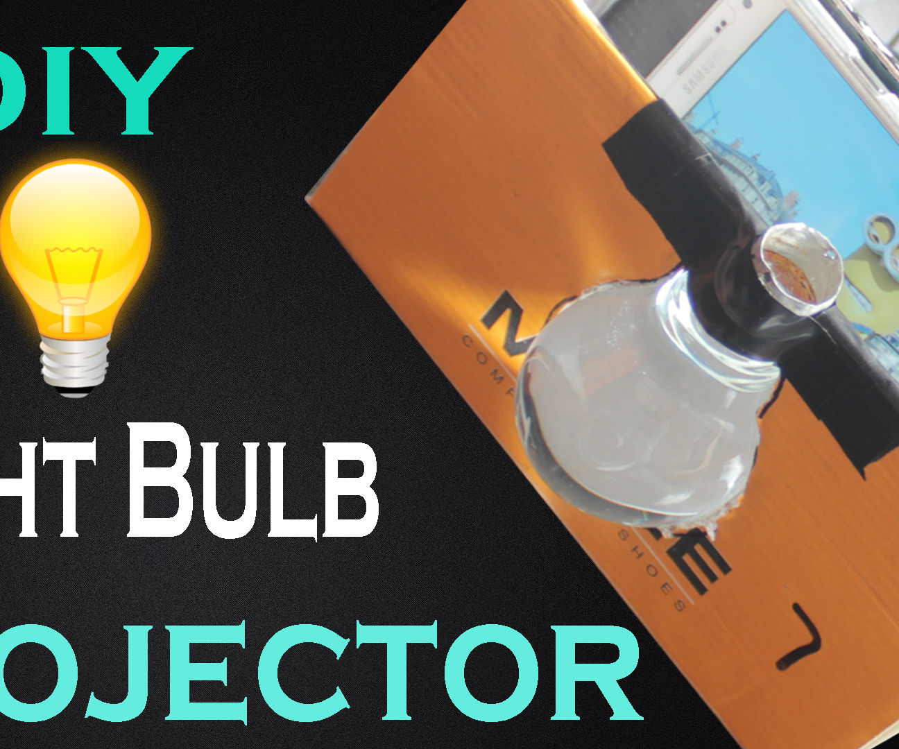 DIY Make Light Bulb Smart Phone Projector At Home Easy Way