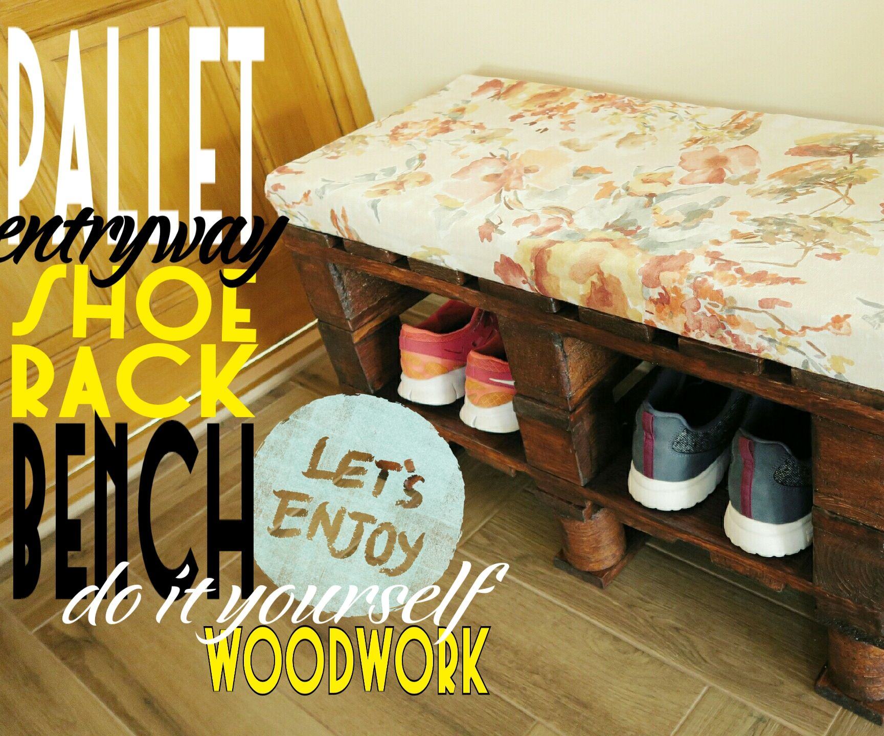 How you can do a pallet bench-shoerack yourself