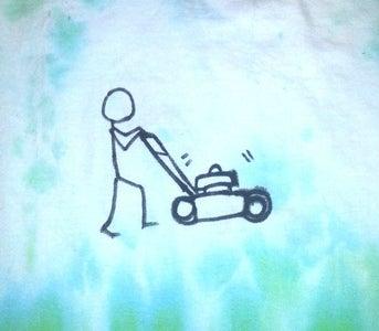 Lawn Mowing Tie Dye T-Shirt
