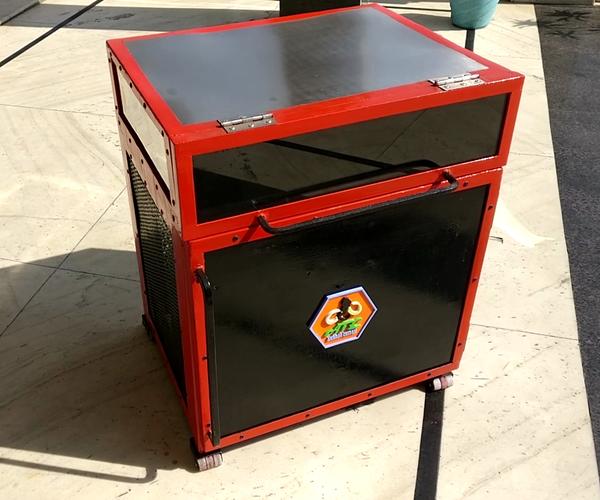 自制变频器电池台车
