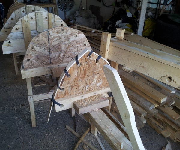Canoe, Kayak Building Form and Steam Box From Recycled Pallets