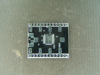 Soldering in the Pic Microcontroller.