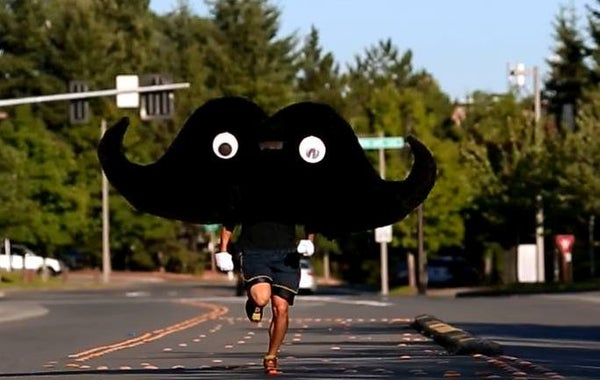 Mustache Mascot Costume