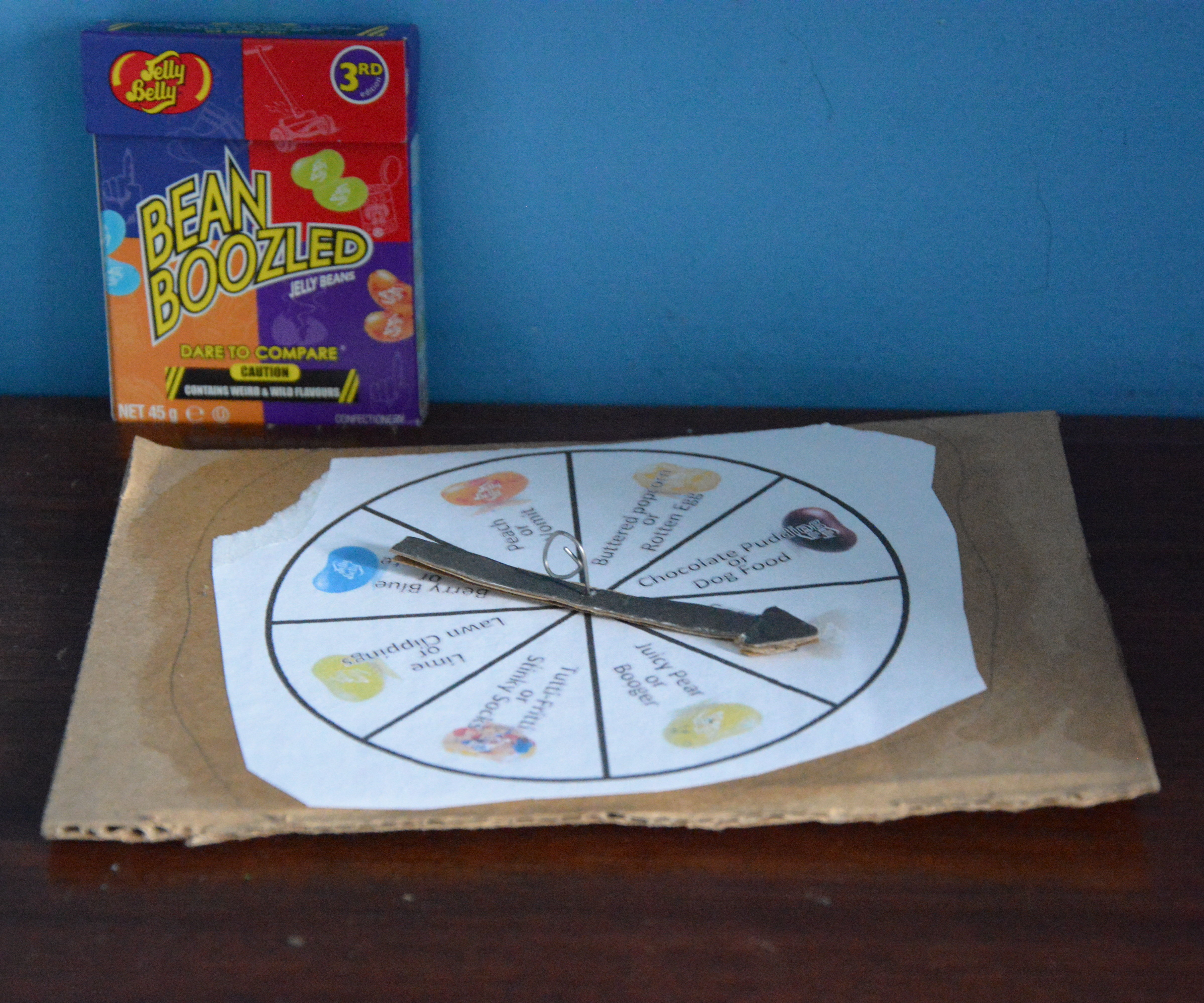 Bean Boozled 3rd Edition spinning Wheel 16 flavors