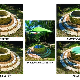 Multi-function Stone Fire Pit