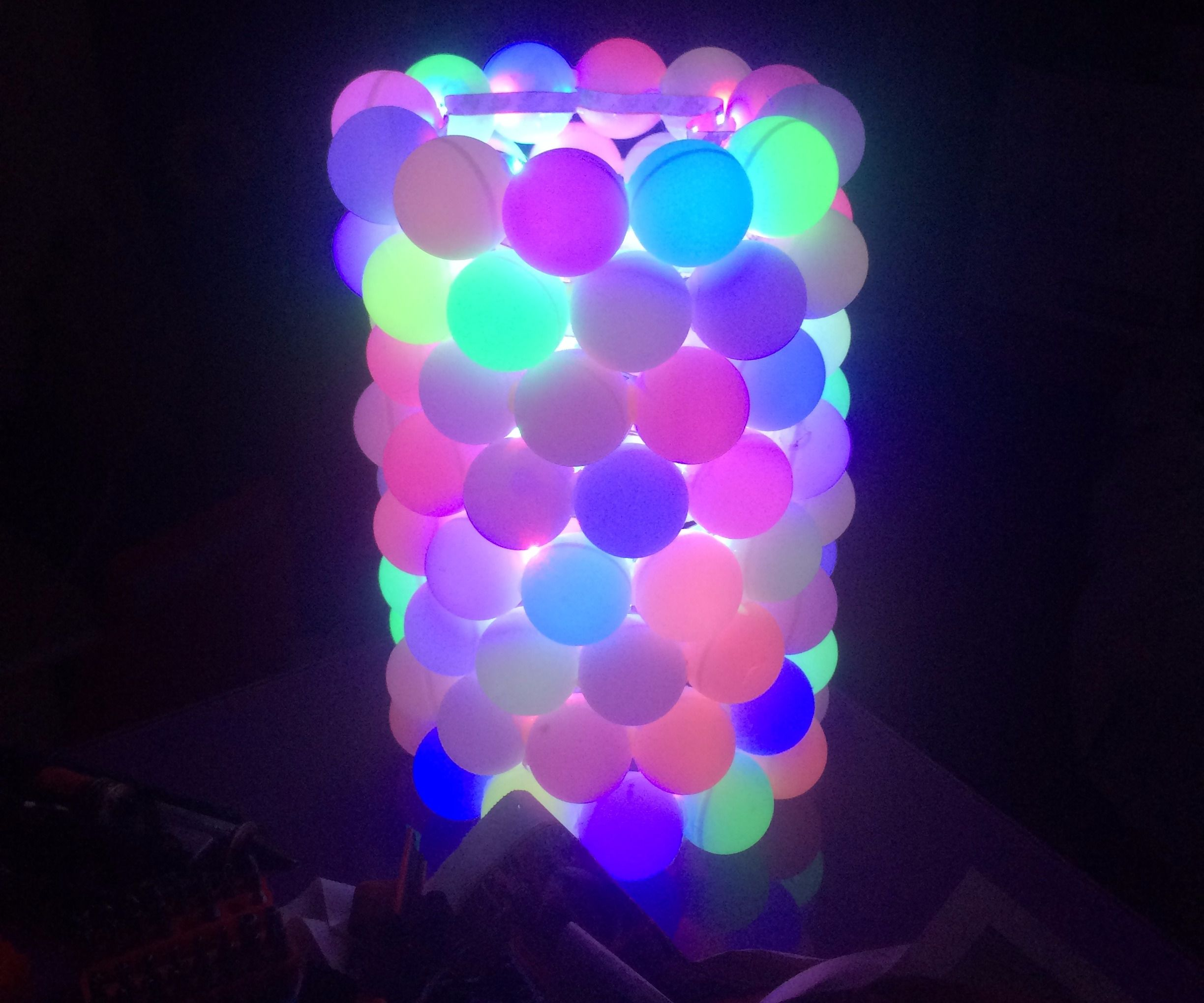 RGB led ping pong ball lamp