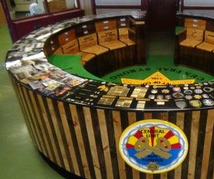 中央单位院子办公桌
