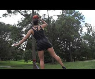 How to Increase Your Balance on a Slackline With a Pumpkin