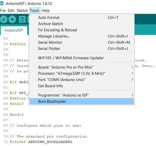 Edit the Bootloader File, Burn the Bootloader, and Upload Your Sketch