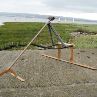 """DIY Human Powered Wooden Hydrofoil  - the """"Hydrothopter"""""""