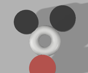 Mickey Mouse Fidget Spinner - Fusion 360