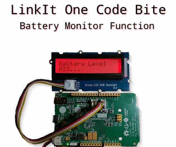 Battery Monitor - LinkIt One Code Bite 1
