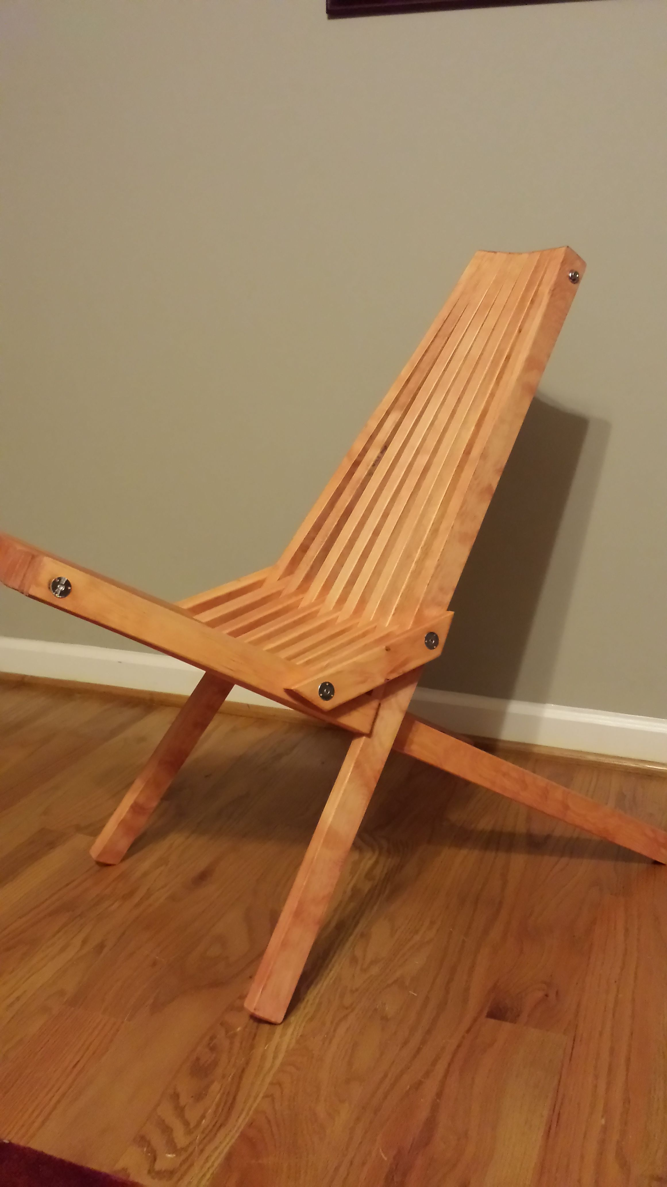 Wooden Outdoor Folding Chair 3 Steps Instructables
