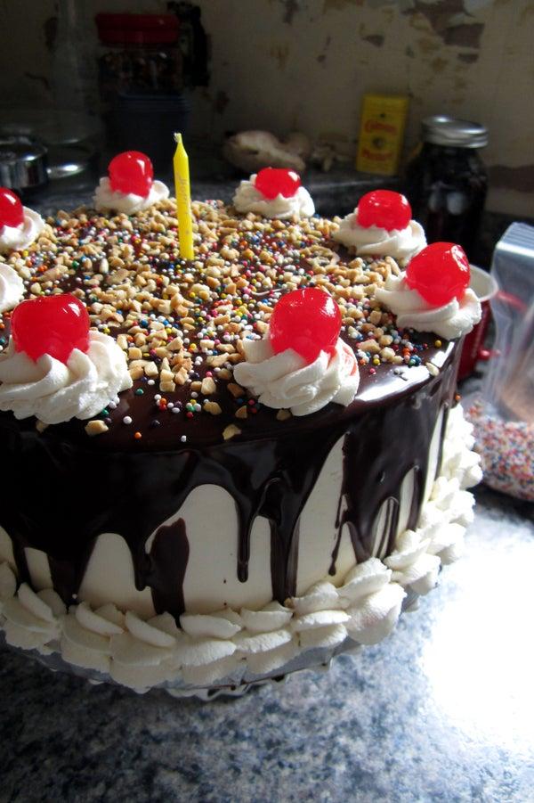 Banana Split Birthday Cake!