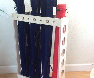 Fly Fishing Rod Organizer Made With CNC Router
