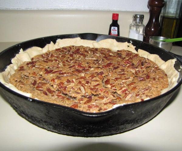 Cast Iron Skillet Baked Pecan Pie
