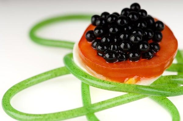 Molecular Gastronomy - Arugula Spaghetti by MOLECULE-R