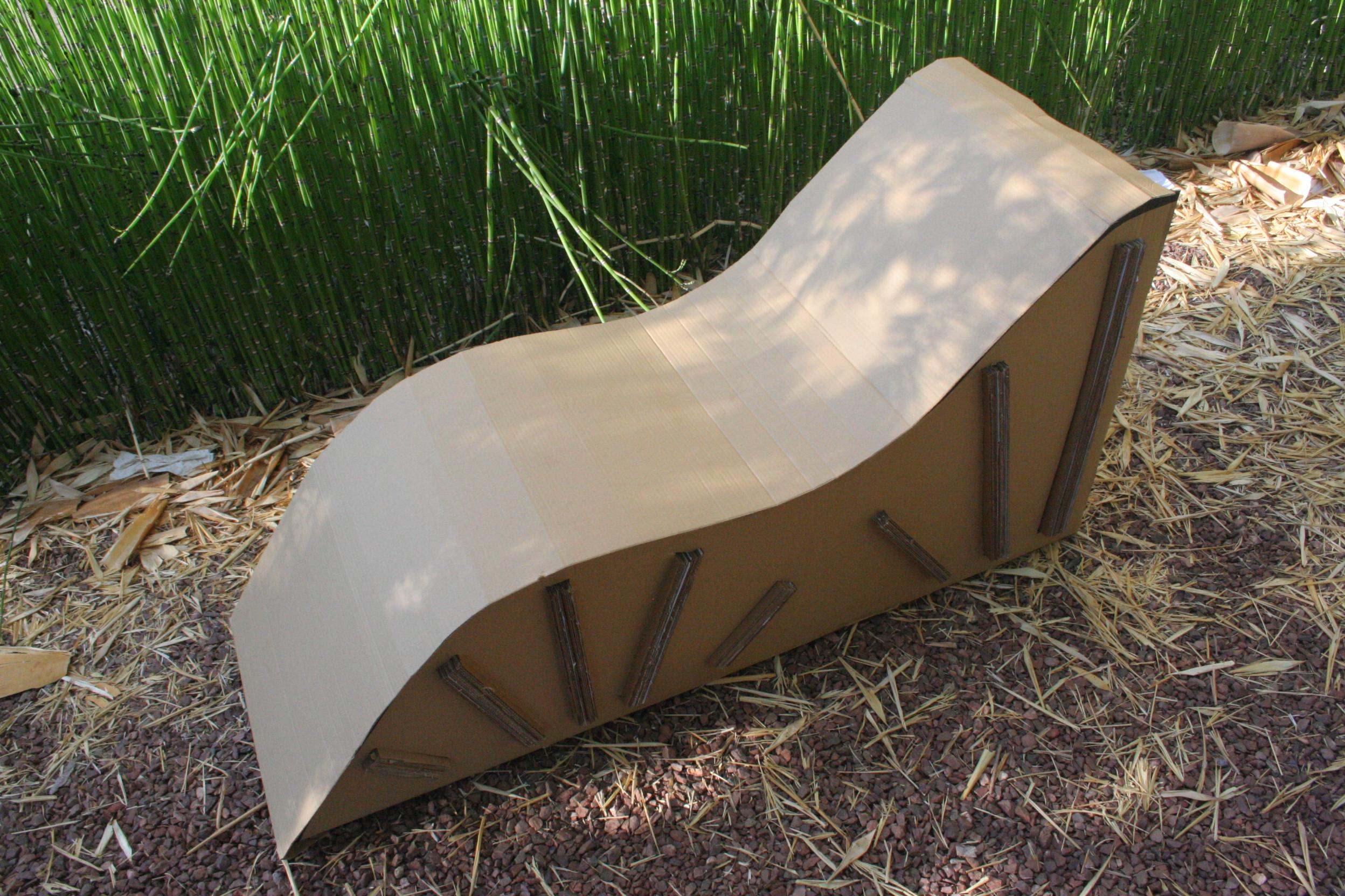 Cardboard Chaise Lounge