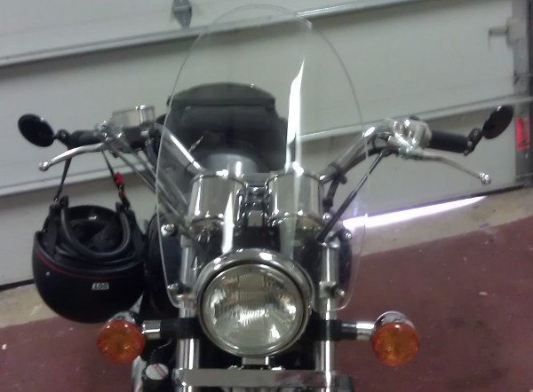 Motorcycle Windshield - Curved