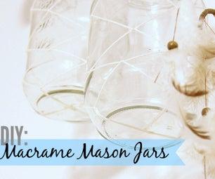 DIY: Macrame Mason Jars