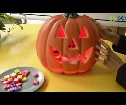 Scary Pumpkin Candy Machine for Halloween