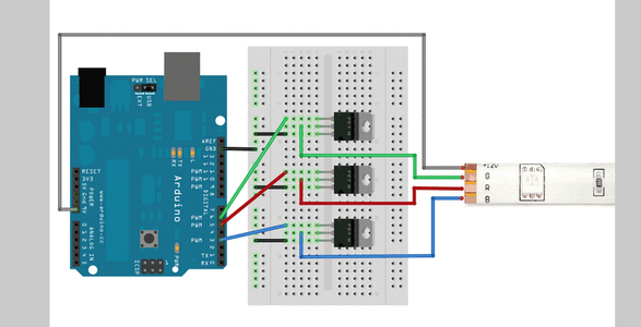 Controlling Leds Strips With Arduino