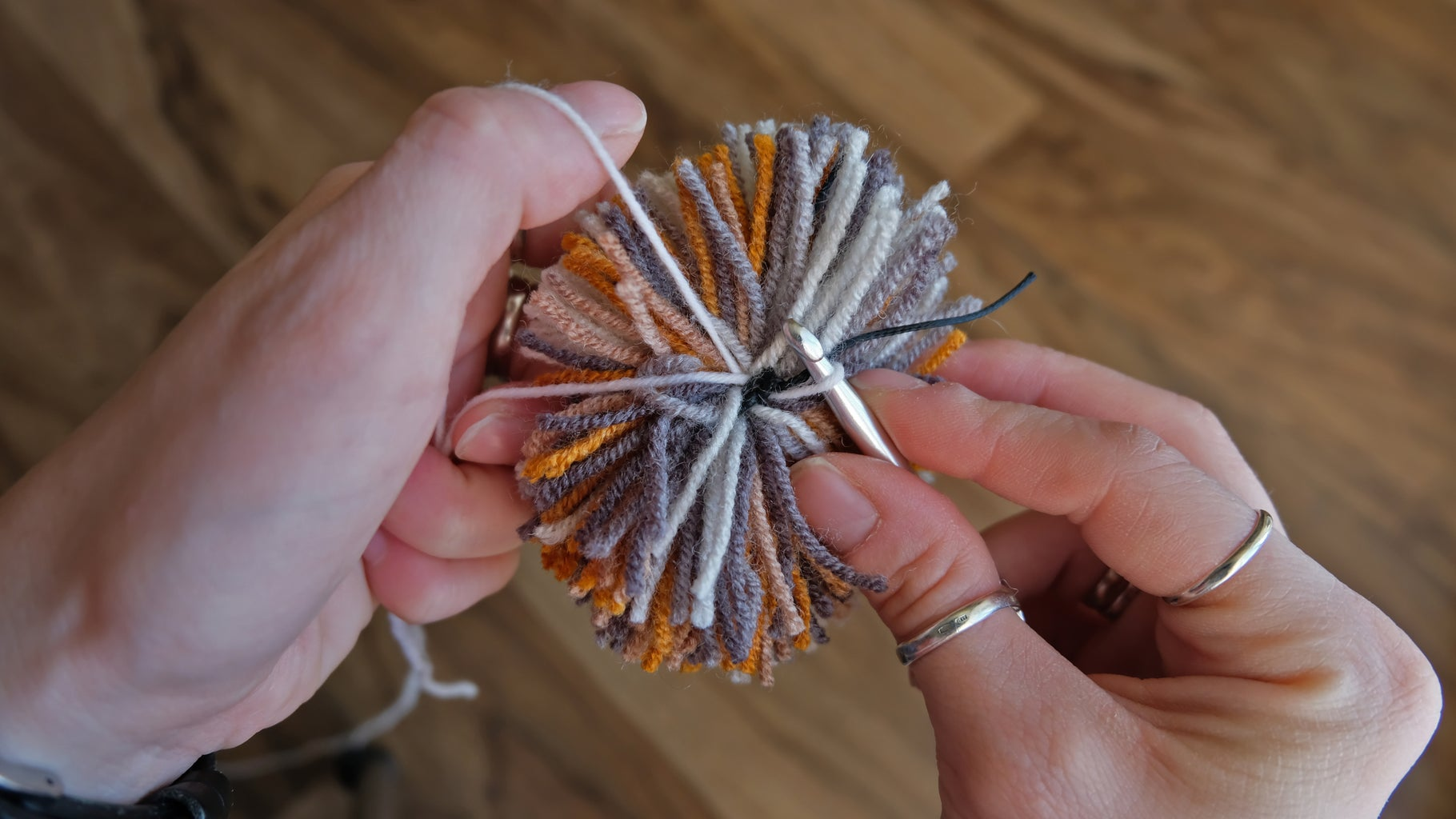 Crocheting. Fixing of Thread and Chain of Air Loops