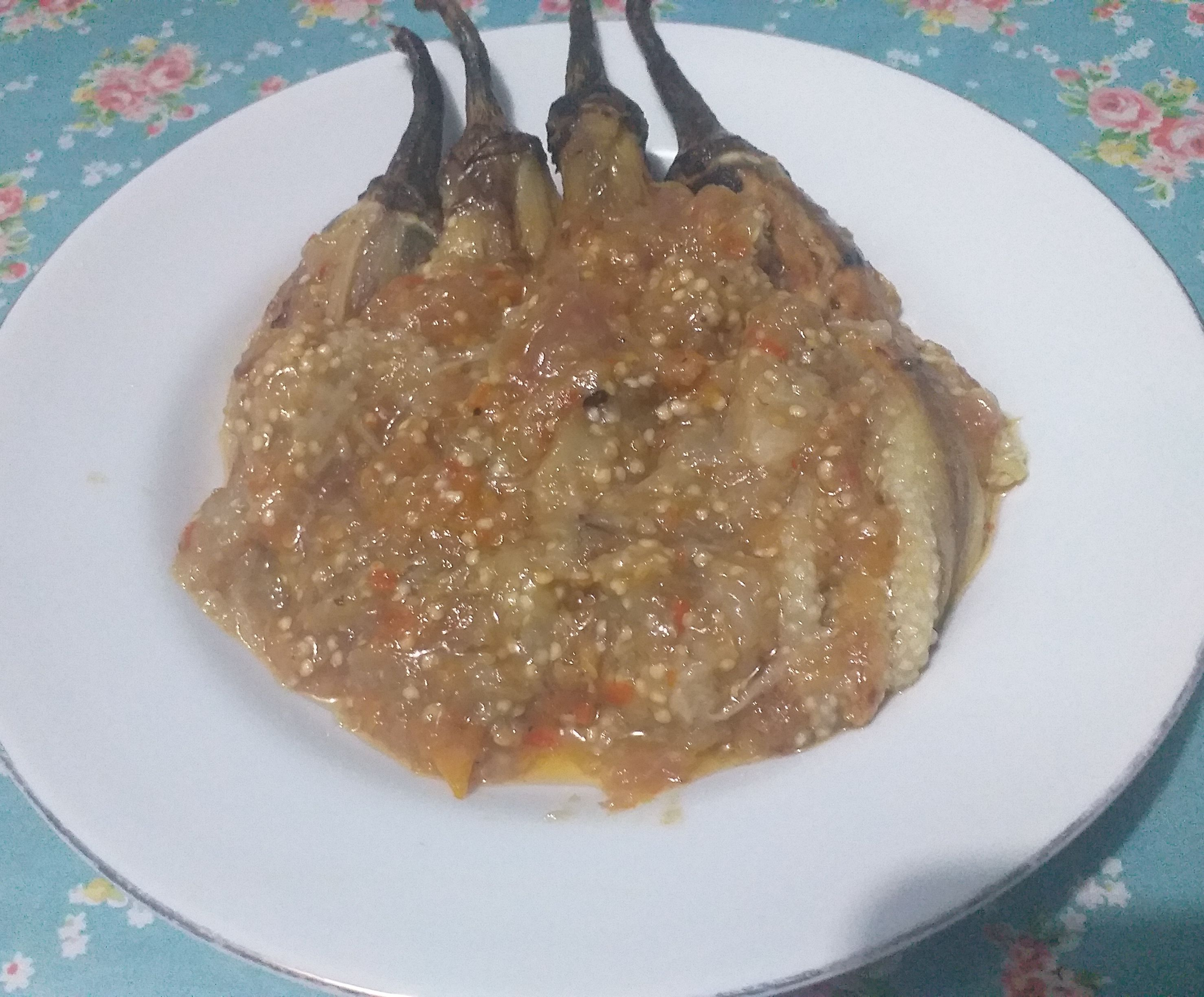 Grilled Eggplants With Chili Sauce