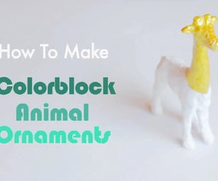 Metallic Colorblock Animals