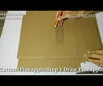 How to Make a Card Board 3D Pineapple
