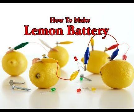 How to Make Lemon Battrey