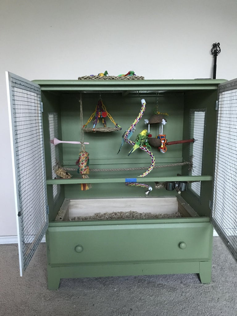 Turn a Chest of Drawers Into a Deluxe Bird Cage